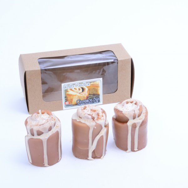 Cinnamon Bun 3 Pack Votives