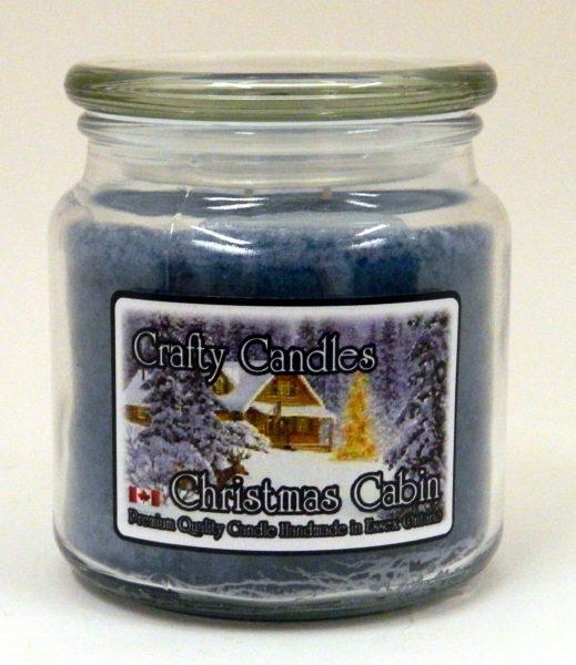 Christmas Cabin 16oz Gift Jar